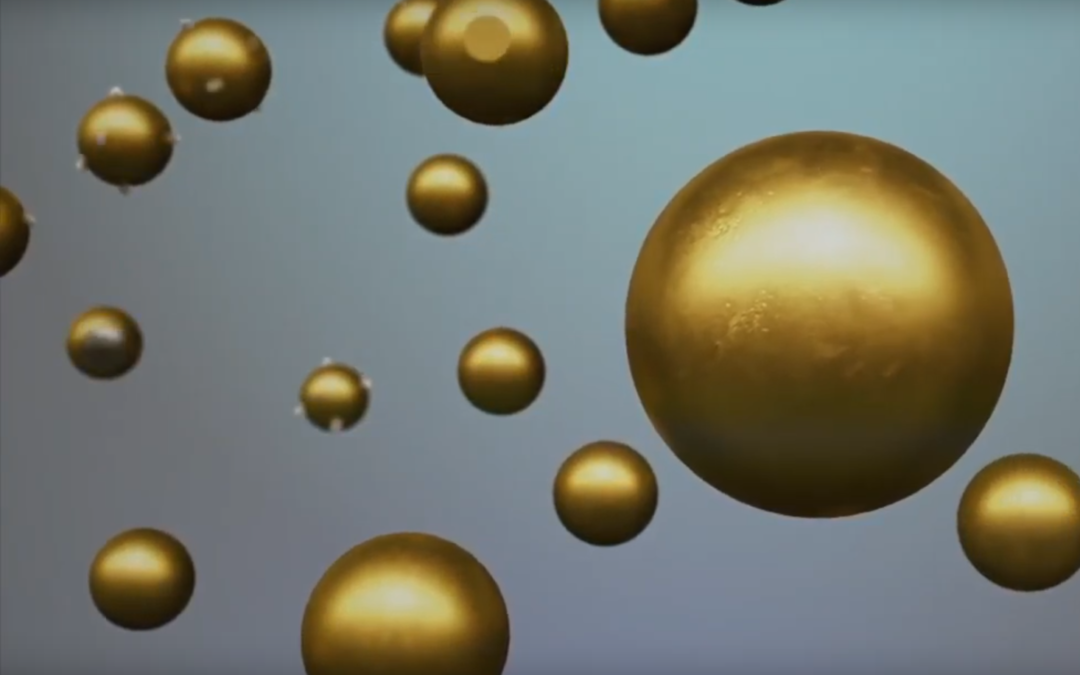 What are gold nanoparticles and how are they made?